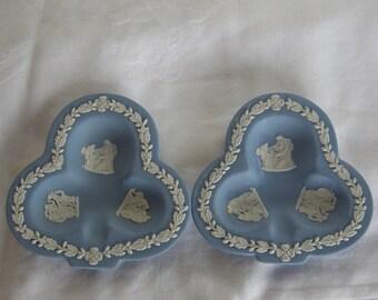Pair Wedgwood Blue Jasperware Ashtray