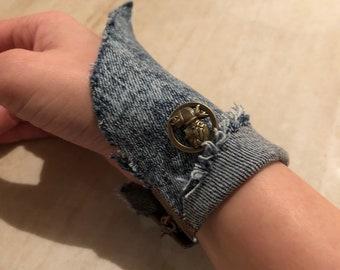 Custom Made Remix Denim Bracelet