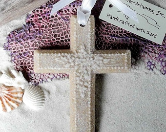 CROSS Made of Sand Ornament