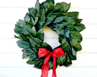 MAGNOLIA Wreath-Christmas Wreath-Holiday Wreath-Outdoor Wreath-All Season Door Wreath-Housewarming Wreath-Holiday Home Decor-Gift for Mom