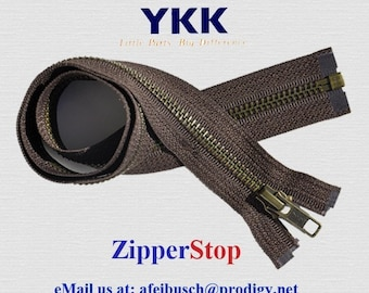 30 inch YKK Antique Brass Separating Zippers -  - Number 5  - Pick the Color Ü Need~ZipperStop Wholesale Authorized Distributor YKK®