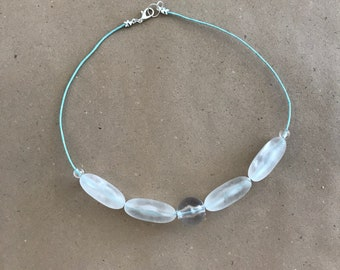 """16"""" Necklace made with reclaimed beads"""