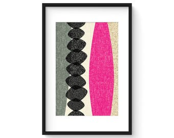 CHRYSALIS no.47 - Giclee Print - Mid Century Modern Modernist Abstract Eames