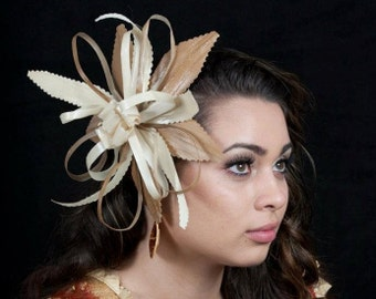 Authentic Polynesian Natural Materials. Lauhala/Laufala/Lo'akau Flower Clip..Perfect Sei For Polynesian Dancers, Luau, Gift Or For Wedding!!