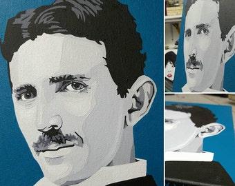 Nikola Tesla Painting By Amy Wons