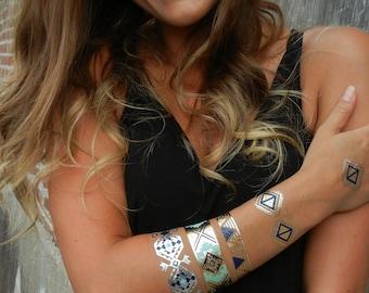 Gypsy Jewelry, Gypsy Bracelet, Metallic Tattoos, Gypsy TemporaryTattoos, Gypsy Bracelets, Gypsy Armbands, Gypsy Metallic Gold Tattoos