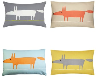 MR FOX Scion Fabric Cushion covers  in 4 colours with option  of  quality cushion pad available with option of double sided cushions