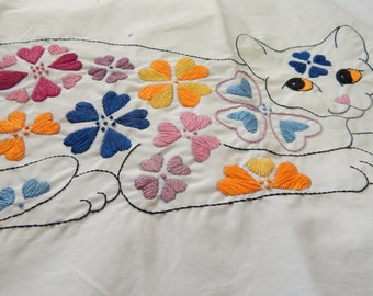 Hand Embroidered Pillow Case Set