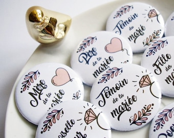 Wedding cookies and family - Collection romantic softness badges