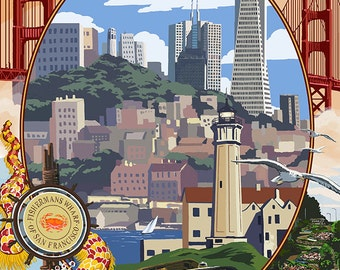 San Francisco, California Scenes (Art Prints available in multiple sizes)