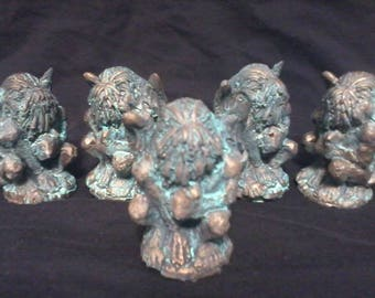 Cold Cast Bronze Cthulhu Idol Figurine with Patina