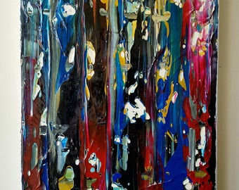 Abstract Grunge Original Canvas Painting