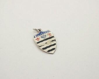 Vintage Sterling/Enamel Blackpool Shield Charm
