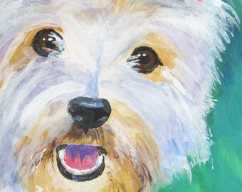 West Highland White Terrier Art Print of Original Acrylic Painting - 8x10