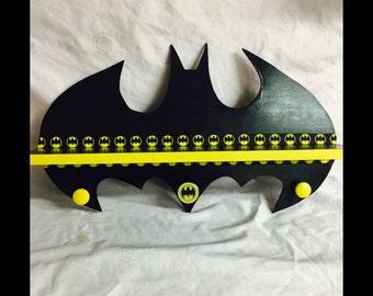 Batman - batman decor - super hero decor - super heros - kids towel racks - kids signs - boys room decor - kids shelves - man cave - kids