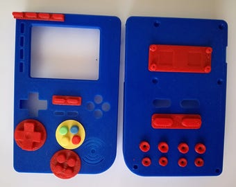 DIY PiGRRL 2  V1.1 Raspberry Pi Game Console with color buttons, Retropie Gameboy Case kit Nintendo-Game, Gift DIY