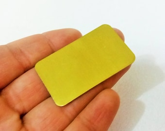 20 Gauge - 3 Pcs Raw Brass 30 x 50 mm Rectangle Stamping Findings -No Hole