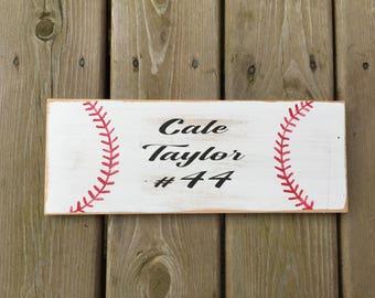 Custom baseball name sign