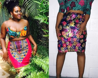 Reversible  pencil skirt : Day and night