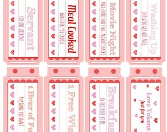 Love Coupons Printable Download