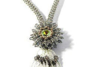 Blue Sunflower Necklace