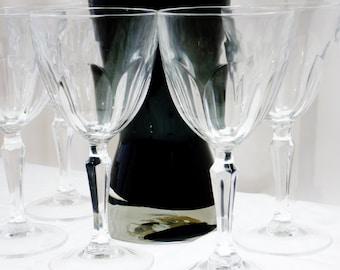 Cristal D'Arques Crystal Claret Wine Glass Washington Pattern 5