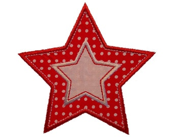 """Twinkle Twinkle Double Stars Appliques Machine Embroidery Designs Applique Patterns in 4 sizes 2"""", 3"""", 4"""" and 5"""""""