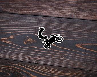 Stunt Bike Silhouette Sticker