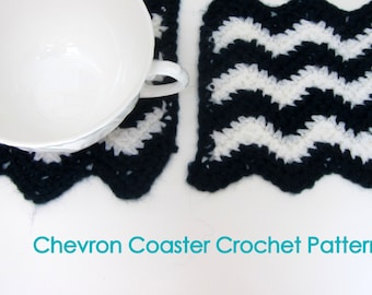 Chevron Coasters Crochet Pattern