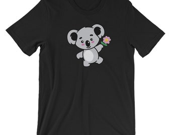 Koala Face T-shirt Cute Animal Lover Tee