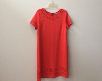 Vintage look orange shift dress
