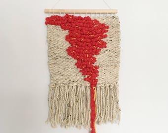 Handwoven Wall Hanging- Exodus 14:21, OK weaving