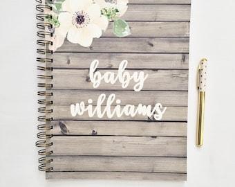 Journal de grossesse personnalisé, attend le cadeau de maman, planificateur de grossesse, souvenir de la grossesse, livre de grossesse, tracker de grossesse, cadeau de la future maman