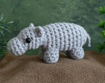 PDF AfricAmi Hippopotamus amigurumi CROCHET PATTERN