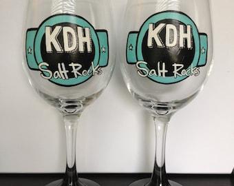 Hand Painted Logo Glassware - Small Business Gift - Welcome Gift - Small Business Mug - Business stuff - Logo Glass - Logo Mug