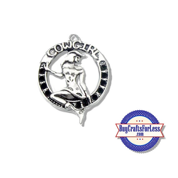 COWGIRL Charms, 2 pcs-Very Cute for Bracelet, Earrings or Pendant +FREE SHiPPiNG +Discounts*