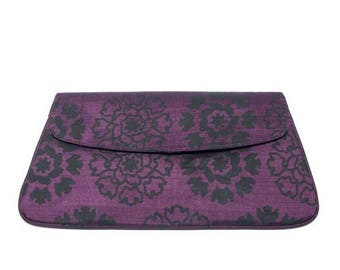 Purple Silk Clutch Bag