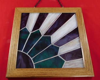 Stained Glass Fan Quilt,Stained Glass Quilt Pattern,Hanging Fan Quilt