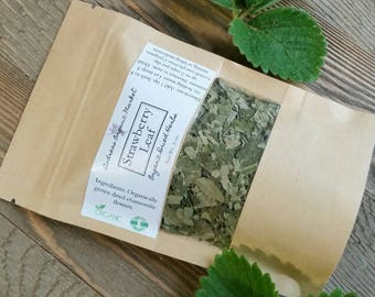 Organic Strawberry Leaf, Fresh Dried Herb, Organic Loose Leaf Tea, Herbal Tea Leaf, Anemia Herbal Remedy, Organic Dried Herbs, Natural Tea