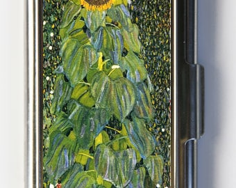 Klimt Sunflower Business Card Holder Card Case