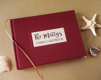 Vacation Home Guest Book. Family Cabin Sign In Book. Resort Guest Book. Vacation Rental Book. AirBnb Guest Book. You Design the Cover.