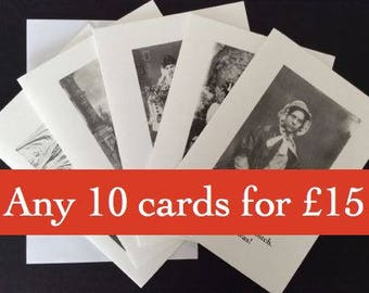 Pick'n'Mix pack of 10 A6 cards