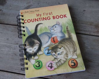 My First Counting Book / Little Golden Book / Storybook Journal / Sketchbook / Classic Story Book / Upcycled Book / Children's Book