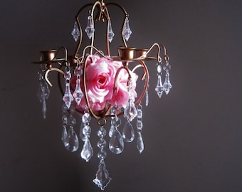 The Ritz Golden Glam 4 Candle Chandelier MADE TO ORDER