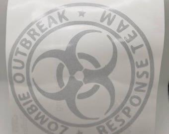 Zombie Outbreak Response Team - Decal