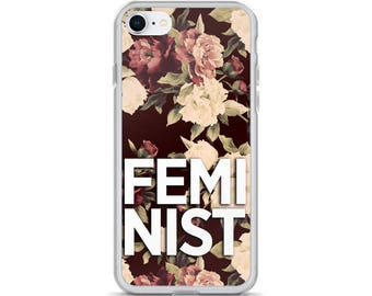 Feminist Floral iPhone Case