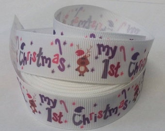 My 1st Christmas ribbon