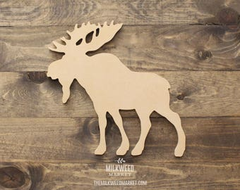 Moose Silhouette Cutout Sign