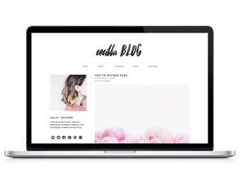 "responsive wordpress theme ""cecilla"" - stylish blog design template"