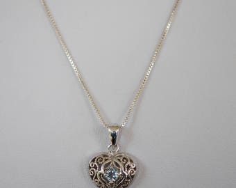 Necklace with heart pendant Silver 925